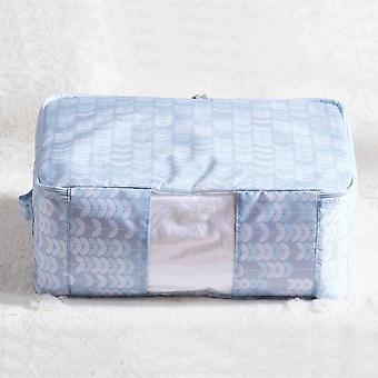 Foldable Clothes Quilt Storage Bag Oxford Fabric Storage Bag Container|Foldable Storage Bags(blue)