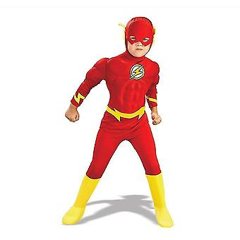 Xl flashbarnens kostymbarn cosplay bodysuit kostymer x1528