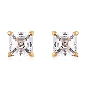 J Francis Stud Earring Swarovski� Zirconia Gold/Platinum Plated Silver for Her
