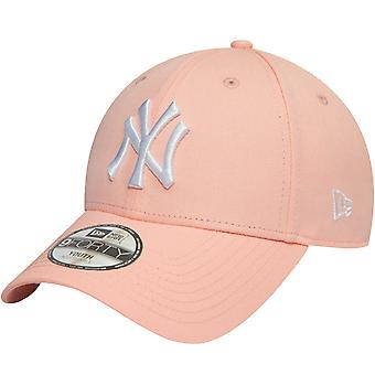 New Era Youths New York Yankees League Essentials 9Forty Cap - Pink - 6-12 Yrs