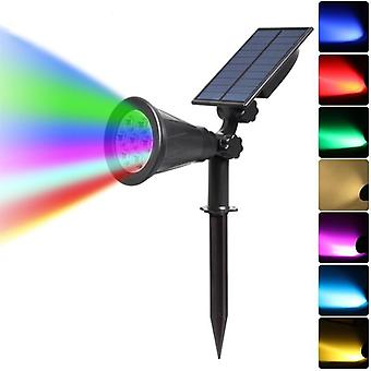 Led Solar Spotlight, Auto Color-changing Outdoor Lighting