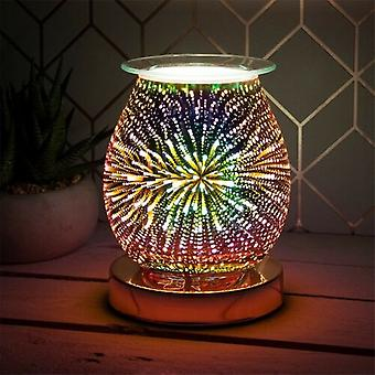 Lesser & Pavey 3d Electric Rose Gold Star Wax Oil Burner Aroma Touch Lamp