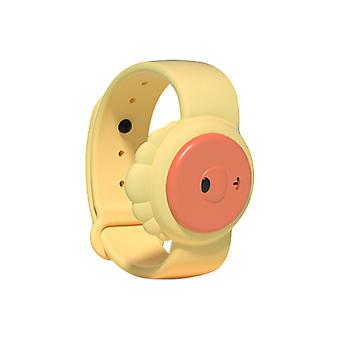 Children's Ultrasonic Mosquito Repellent Bracelet, for Indoors and Outdoors Yellow Lion