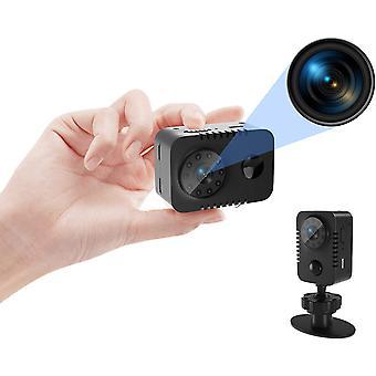 Mini 1080p HD Kamera mit PIR Bewegungsmelder und Nachtsicht Kleine Nanny Body Cams Indoor Security Überwachungskamera 60 Tage Standby (ohne WiFi) (Schwarz)