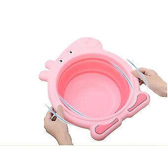 Baby Folding Washbasin Collapsible Wash Basin Folding Dishpan Dish Bowl Washing Tub(PINK)