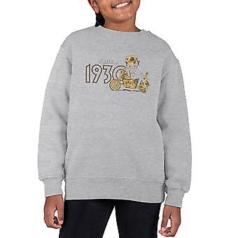Betty Boop Biker Betty Established 1930 Kid's Sweatshirt