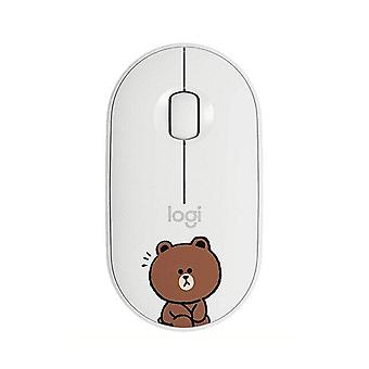 Wireless Mouse Bluetooth Mice Mute Slim Bluetooth Mouse For Laptop PC Office Home Mice(white)