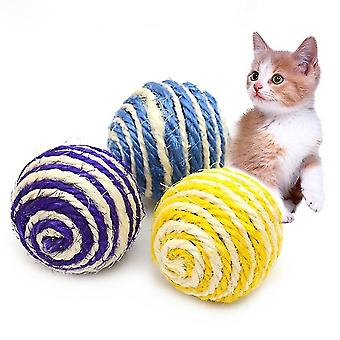Funny Toys Natural Sisal Ball Interesting Cat Toys, Random Color Delivery