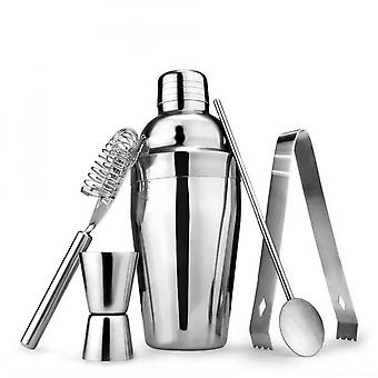 5pc Stainless Steel Cocktail Maker Kit Set With 750ml Shaker