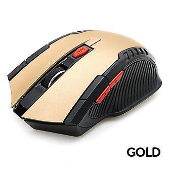 2.4Ghz الماوس الألعاب البصرية اللاسلكية الماوس لاعبة للكمبيوتر 2000dpi 6 مفاتيح الفئران اللاسلكية مع جهاز استقبال USB لألعاب الكمبيوتر المحمول