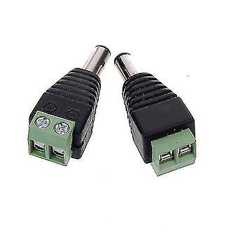 2pcs 5,5 x 2,1 mm DC Power Stecker Stecker für CCTV Kameras