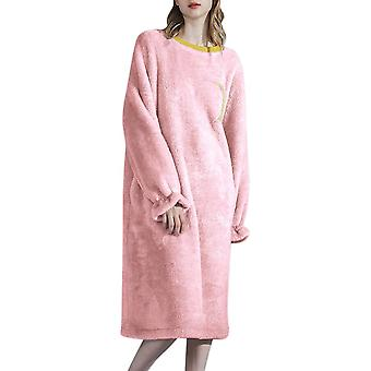 Mile Womens Round Neck Pullover And Velvet Nightgown