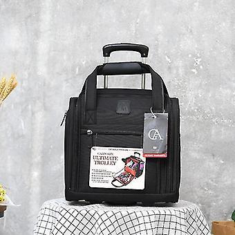 אופנה מזוודות מתכת עגלות תיקי טיולים פרח מזוודה על גלגלים Valise