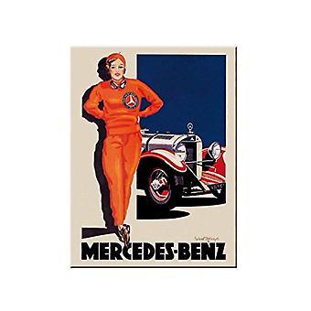 Mercedes Benz Vintage Car - Nostalgisk Metal Magnet - Cracker Filler Gift