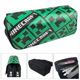 Minecraft Children's double-layer pencil case with large capacity(Color-1)