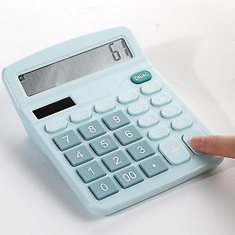Calculatrice Bureau Double puissance avec grand écran couleur École Bureau Calculatrice électronique (vert)
