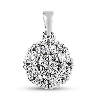 J Francis Wedding Cluster Anhänger Swarovski Zirkonia für Damen Silber 1.83ct