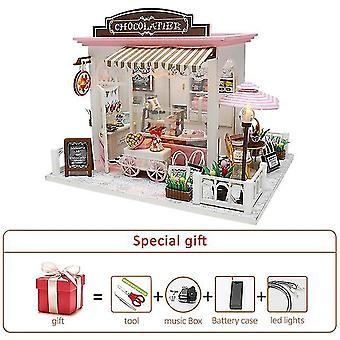 Diy miniaturní dollhouse kit doll house nábytek ručně vyráběný model pokoj box hračky pro děti Vánoce
