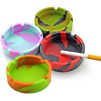 4pcs Wird nicht brechen Silikon Aschenbecher Zigaretten Aschenbecher, Neuheit Moderne Tischplatte Silikon Aschenbecher für den Innen- oder Außenbereich