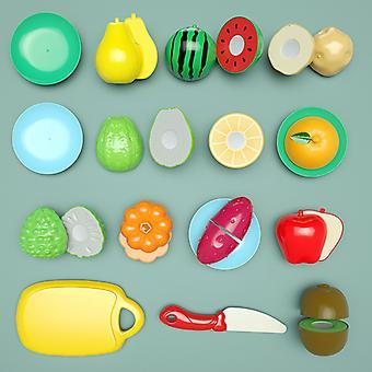 Play House Toys Cut Pizza Vegetables Boy Girl Kitchen Basket