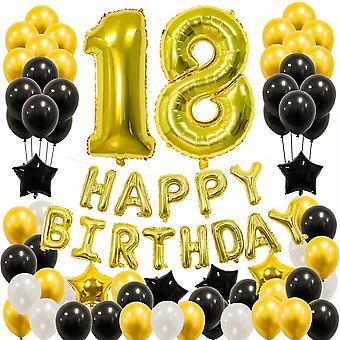 Adult Birthday Party Decoration Balloon Mysterious Black Gold Atmosphere Arrangement Balloon Set Kc-001(2)