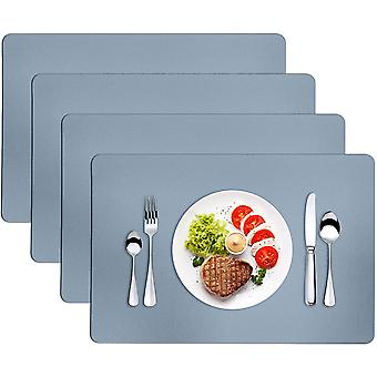 Placemats For Dining Table Set Of 4 Leather Place Mats Indoor&outdoor Wipeable Table Mats For Home Kitchen Dining