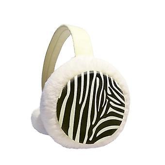 Black White Strips Ear Warmer