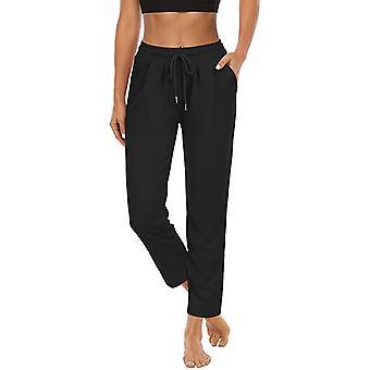 Women High Waist Yoga Pants Casual Drawstring Leg Trousers