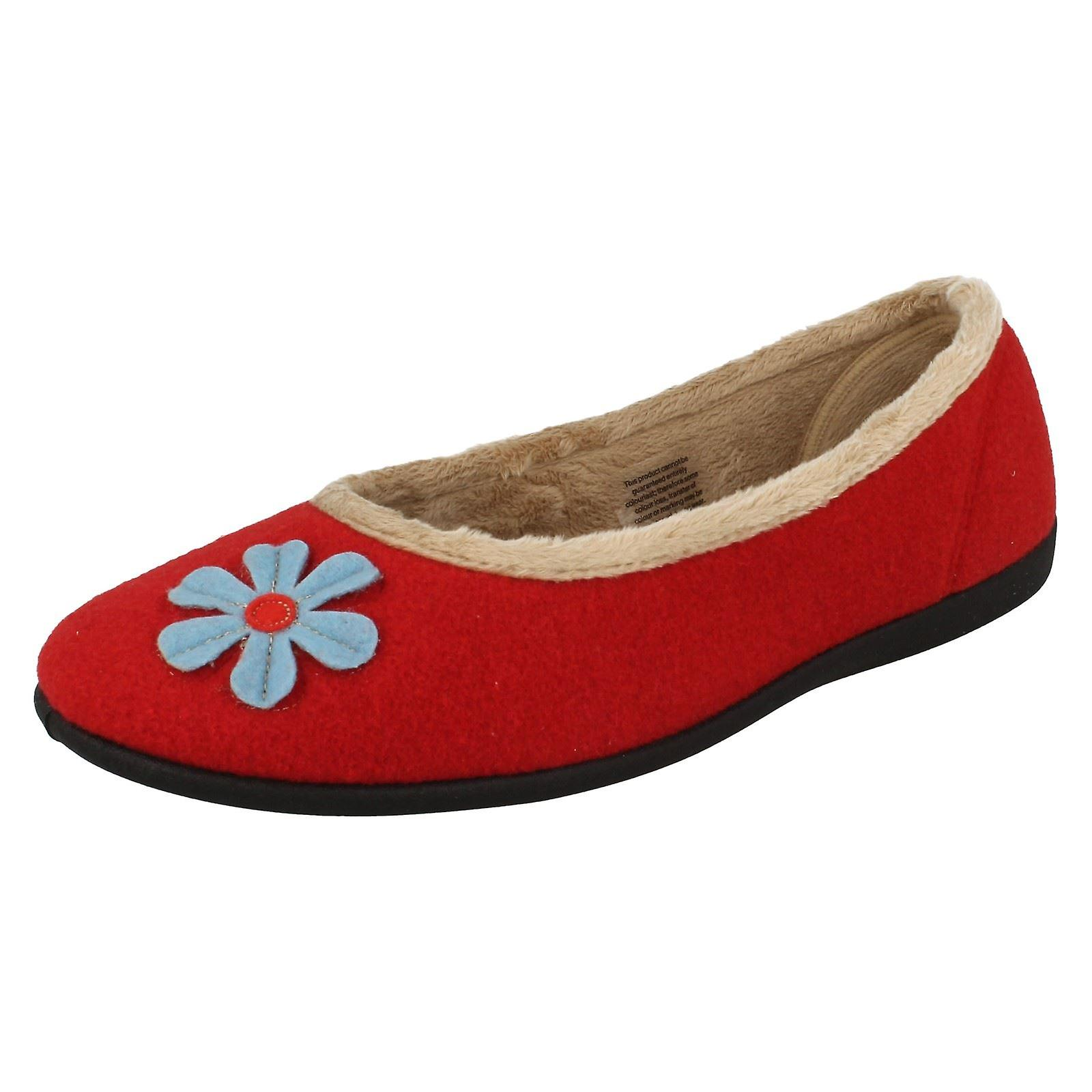 Ladies Padders Wide Fitting Ballerina Slippers Happy DRCuh
