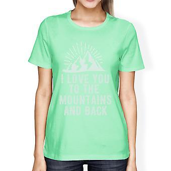 Berg en terug Mint afbeelding T Shirt cadeau idee voor de liefhebber van de berg