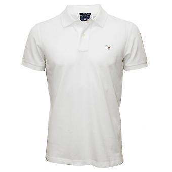 GANT Solid Pique Polo Shirt, Wit