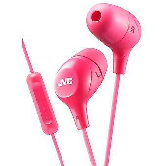 JVC In-Ear-koptelefoon met afstandsbediening 1 knoop en Mic - roze (HAFX38MP)