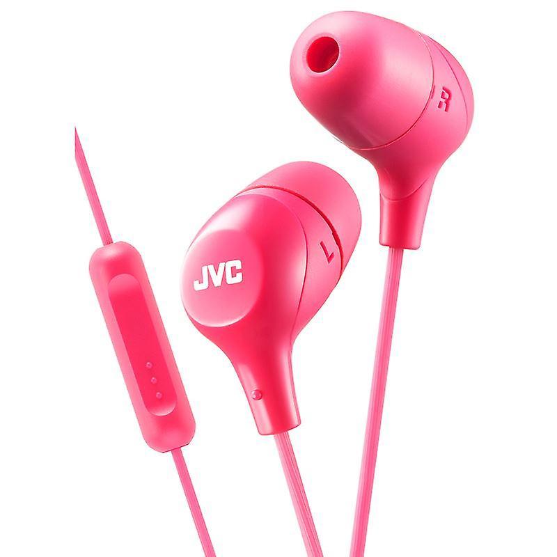 JVC øretelefoner med 1 knappen fjernkontroll og mikrofon