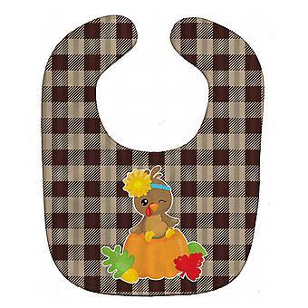 Carolines trésors BB7113BIB Thanksgiving Turquie bébé Bavoir de bébé