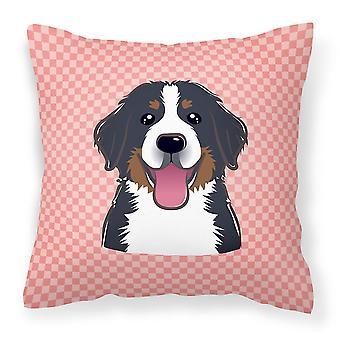 لوح شطرنج الوردي بيرن الجبلية الكلب قماش نسيج ديكور وسادة