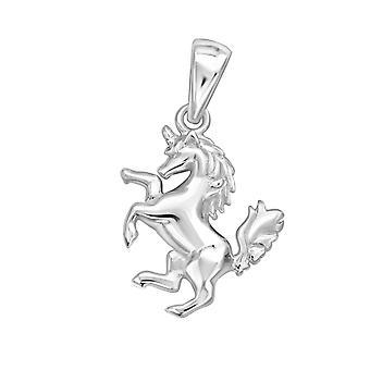 Unicorn - 925 Sterling Silver Plain Pendants - W32272X