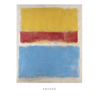 Untitled (Yellow Red and Blue) Poster Print by Mark Rothko (24 x 32)