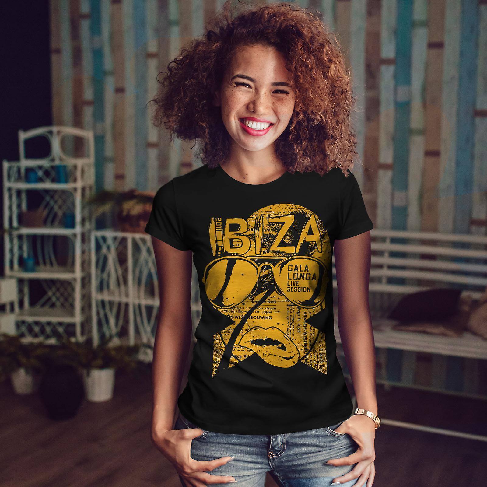 Ibiza Party Live BlackT-chemise femme | Wellcoda