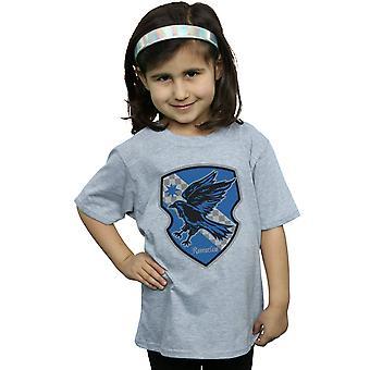 Harry Potter ragazze Ravenclaw Crest piatto t-shirt