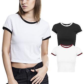 Urban classics damer - beskurna brottning topp skjorta custom-gratis