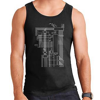 Dragon 32 Computer Schematic Men's Vest