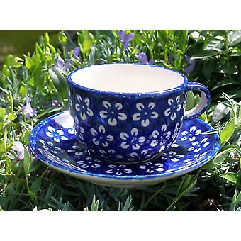 Cup and saucer, blue Bunzlau, BSN m-4242