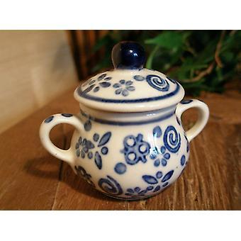 Sugar Bowl, em miniatura, tradição 12 Bunzlauer cerâmica - 0610 BSN
