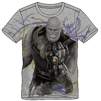 Marvel Comics Vengadores infinito guerra hombres Thanos camiseta Extra grande gris