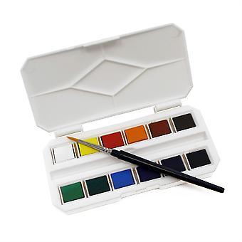 Pocket Watercolour Box Set with Travel Brush