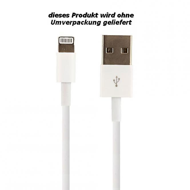Original bulk Apple MD818ZM/A lightning charge cable, iPhone 5 / 5 s / SE, 2 x Matt screen protector