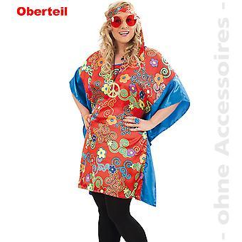 Hippie Lady kostume 60 'er hippie tunika women's kostume