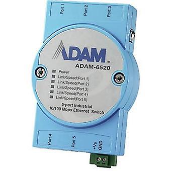 Advantech ADAM-6520 Switch LAN No. of outputs: 5 x 12 V DC, 24 V DC