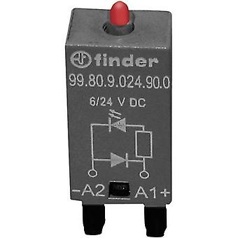 Finder Plug-in module + flyback diode, + LED 99.80.9.024.90.0 Colours (LEDs): Red Compatible with (type): Finder 94.54.1, Finder 94.84.3, Finder 95.85.3,