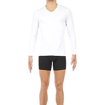 HOM Classic kaula pitkähihainen t-paita-valkoinen